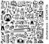 rap  hip hop   graffiti  ... | Shutterstock .eps vector #387249736