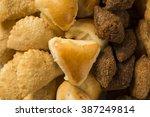 mixed brazilian snack.  | Shutterstock . vector #387249814