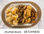 mixed brazilian snack.  | Shutterstock . vector #387249850