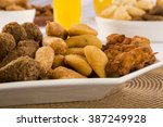 mixed brazilian snack.  | Shutterstock . vector #387249928
