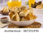 brazilian snack. chicken esfiha ... | Shutterstock . vector #387251950