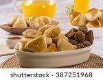 mixed brazilian snack.  | Shutterstock . vector #387251968
