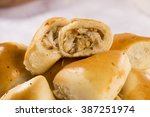 brazilian snack. chicken esfiha ... | Shutterstock . vector #387251974