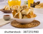brazilian snack. chicken esfiha ... | Shutterstock . vector #387251980
