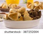 mixed brazilian snack.  | Shutterstock . vector #387252004