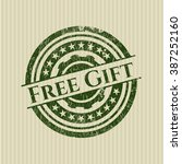 free gift rubber stamp | Shutterstock .eps vector #387252160