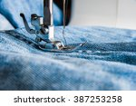Sewing Machine And Blue Jeans...