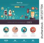 business start up  finance one... | Shutterstock .eps vector #387257704