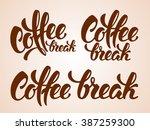 set of calligraphy lettering... | Shutterstock .eps vector #387259300