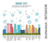 smart city design  | Shutterstock .eps vector #387260158