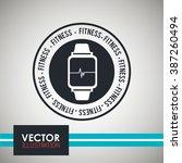 fitness icon design  | Shutterstock .eps vector #387260494