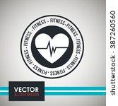 fitness icon design  | Shutterstock .eps vector #387260560
