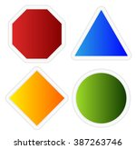 empty signs. octagon  triangle  ... | Shutterstock . vector #387263746