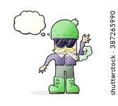 cartoon man smoking pot with... | Shutterstock .eps vector #387265990