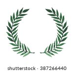 watercolor green laurels. hand... | Shutterstock . vector #387266440