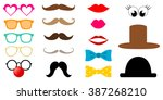 colorful photo booth props icon ... | Shutterstock .eps vector #387268210