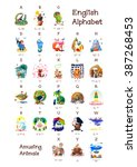 English Alphabet series of Amusing Animals. All 26 letters in one Poster file. Woodland Animals. Cartoon illustration Animals for letters. A B C D E F J H I G K L M N O P Q R S T U V W X Y Z