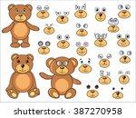 applique  body parts of a bear...   Shutterstock .eps vector #387270958