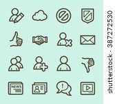 community. social media icons... | Shutterstock .eps vector #387272530