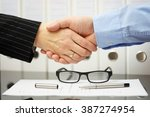 businessman and client are... | Shutterstock . vector #387274954