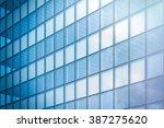 angle view of modern skyscraper ... | Shutterstock . vector #387275620