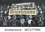 crowd business illustration | Shutterstock . vector #387277984