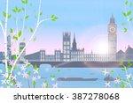 london  spring  cityscape on... | Shutterstock .eps vector #387278068