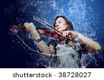 Musician Playing Violin Under...