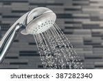Shower Head With Water Drops...