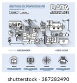 one page data analytics web... | Shutterstock .eps vector #387282490