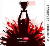 champions cup. poster  | Shutterstock .eps vector #387285226