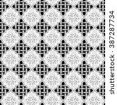 scandinavian celtic monochrome... | Shutterstock .eps vector #387287734