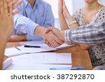business people handshaking... | Shutterstock . vector #387292870