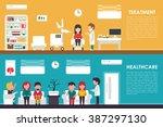 treatment healthcare flat... | Shutterstock .eps vector #387297130