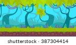seamless cartoon forest...