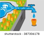 water source has poison like... | Shutterstock .eps vector #387306178
