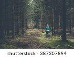 the girl walks into the denmark ...   Shutterstock . vector #387307894