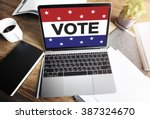 vote voting election politic... | Shutterstock . vector #387324670