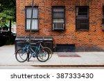 beautiful building. entrance... | Shutterstock . vector #387333430
