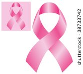 breast cancer ribbon  vector | Shutterstock .eps vector #38733742
