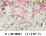 bouquets of flowers decorated... | Shutterstock . vector #387345400