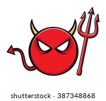 Cartoon Devil Symbol With...