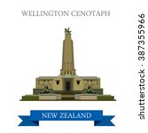 wellington cenotaph in new... | Shutterstock .eps vector #387355966