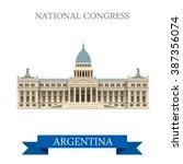 national congress in buenos... | Shutterstock .eps vector #387356074
