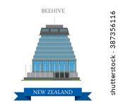 beehive parliament building... | Shutterstock .eps vector #387356116