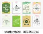 set of cards for st. patrick's... | Shutterstock .eps vector #387358243