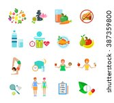 diet healthy nutrition... | Shutterstock .eps vector #387359800