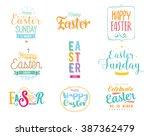 happy easter typography design... | Shutterstock .eps vector #387362479