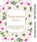 vintage delicate invitation... | Shutterstock .eps vector #387365230