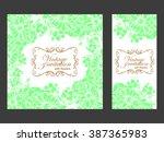 vintage delicate invitation... | Shutterstock .eps vector #387365983